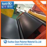 Strato di plastica duro nero del PVC, il nero dello strato del PVC di 2mm, strato rigido nero del PVC del Matt per il comitato