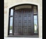 Двери входа твердой древесины грецкого ореха парадного входа свода центра внешние
