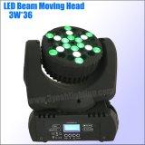36*3W LED bewegliches Hauptträger-Wäsche-Stadiums-Licht