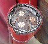 câble de cuivre du noyau 33kv trois blindé