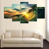 Картина изображения Seaview захода солнца волн на холстине для картины Mc-159 печати холстины комнаты украшения дома искусствоа стены живущий