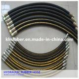 Boyau en caoutchouc hydraulique tressé de fil à haute pression de R2at
