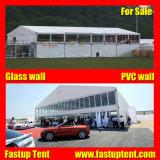 En el exterior de PVC blanco del techo de una forma Double Decker Carpa carpa para evento deportivo