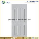 Porte de HDF premiers blancs de 6 de panneaux Moulded