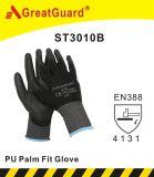 Перчатка (PU) ладони полиуретана подходящая (ST3010G)