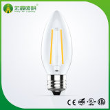 Ampoule bougie réglable sans Filcker E14 4W Ampoule à incandescence LED