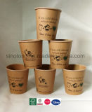 Tazze di carta di 8oz Eco del caffè doppio amichevole all'ingrosso di PLA