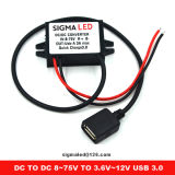 차 충전기 빠른 책임 3.0 QC3.0 QC7503 12V-72V 자동 예비 품목 수레 DC-DC 변환기 Smartphones USB 비용을 부과 포트