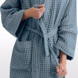 カスタマイズされたロゴの100%年の綿のワッフルのパジャマローブのホテルの浴衣(JRC400)