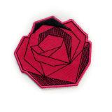 훈장을%s 수를 놓은 패치철 에 주문 빨간 심혼 모양