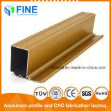El oro de la puerta de aluminio anodizado de perfiles de aluminio fabricado en China