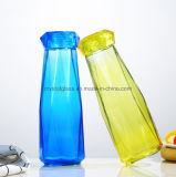 Nouvelle arrivée 500ml en verre coloré créatif Diamond bouteille d'eau