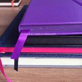 Cuaderno elástico de la piel de topo del cuaderno de la cubierta del cuero del cuaderno de la alta calidad A6