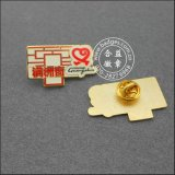 Distintivo variopinto dello smalto di Imtated in argento o oro (GZHY-LP-051)