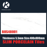 5.5mm Stärken-Größen-400X800mm glasig-glänzende Porzellan-Fliese-dünne Porzellan-Fliesen