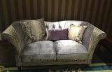 Sofá superior europeo con marco de madera maciza / sofá real clásico