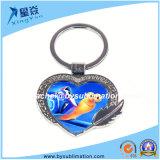 판매를 위한 승화 심혼 모양 금속 Keychain