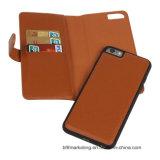 Cas en cuir multifonctionnel de téléphone mobile de pochette pour l'iPhone Samsung