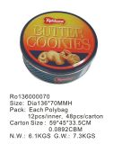 Alimentos ronda Tin Box puede Cookies/Embalaje/biscuit de Chocolate y té/Caramelos/Regalo