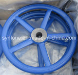 中国OEMの吹き付け塗装が付いている砂型で作る金属手車輪