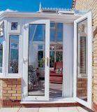 Высокое качество в европейском стиле тепловой Break алюминиевая дверная рама перемещена стеклянные двери на балкон (ACD-028)