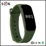 Bracelet intelligent de Bluetooth 4.0 de fréquence cardiaque de l'oxygène de sang de Sek