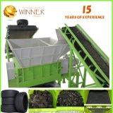 Máquina plástica Waste da estaca e do recicl para o Shredder do dobro da venda