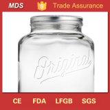 Подгоняйте стеклянный графинчик с распределителем напитка опарника каменщика галлона Tap/2