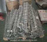 Braçadeira de tensão de cabo / fixação de cabo para cabo ADSS / Opgw