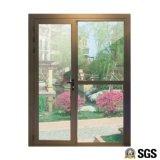 Gute Qualitätsthermische Bruch-Aluminiumlegierung-Profil-Flügelfenster-Tür mit Stahlmoskito-Netz K06015