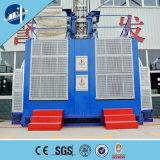 Doubles cages soulevant le mécanisme de l'élévateur de construction de construction