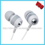 Auriculares do fone de ouvido da em-Orelha do metal branco de Milkly com baixo profundo