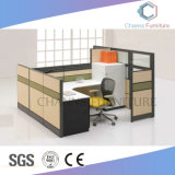 Cubicolo di legno dell'ufficio della stazione di lavoro della mobilia moderna