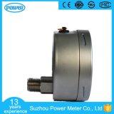100mm todo o tipo mais baixo manómetro da parte traseira do aço inoxidável da conexão