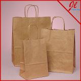 Einkaufen-Papiertüten mit Griff und glatte Beutel für das Einkaufen