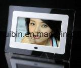 promoción de acrílico del marco de la foto de la pantalla de 7inch LCD que hace publicidad del jugador (HB-DPF702A)