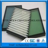 Bonne qualité 6 + 12 + 6 panneaux de verre isolés pour fenêtre extérieure