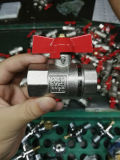 Geschmiedetes Messingwasser-Rollkugel-Ventil mit Eisen-Griff (YD-1023)