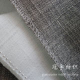 Polyester synthétique Oxford Linen Fabric avec Knitted Backing