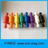 Magneti variopinti di plastica dell'appunto dell'ufficio/Pin magnetico di spinta