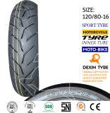 O sul da motocicleta do pneumático do esporte de América parte o pneu 120/80-16 da motocicleta do pneumático da motocicleta do velomotor