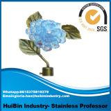 가정 훈장 커튼 부속품 로드 의 단철 파란 수정같은 꽃 커튼을 거는 막대 Finials