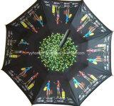 Maniglia 2017 di C 23 pollici di ombrello inverso per la promozione