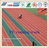 Saúde ambiental PU Athletic Rubber Running Track / Sports Flooring