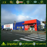 Afrika-modularer Stahlkonstruktion-Aufbau-Supermarkt (LS-S-017)