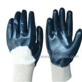 Голубой перчатки окунутые половиной работы нитрила Китай