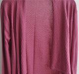 Casaco de lã puro do Knit da cor de Opean da luva longa das mulheres