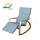 Cadeira de balanço moderna de madeira do estilo de Northern Europe da curvatura