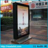Annoncer le stand mettant en rouleau Lightbox acrylique