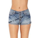 La moda Denim Jeans damas con 100%Algodón (14158)